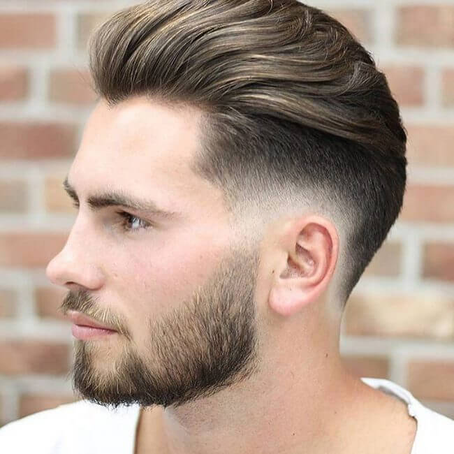 Low Skin Fade with Brushed Up Fringe - Mens Hairstyles 2020