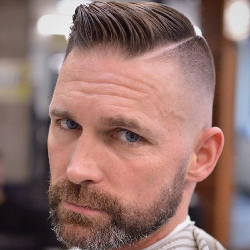 Undercut with Hard Part Comb Over - Mens Hairstyles 2020
