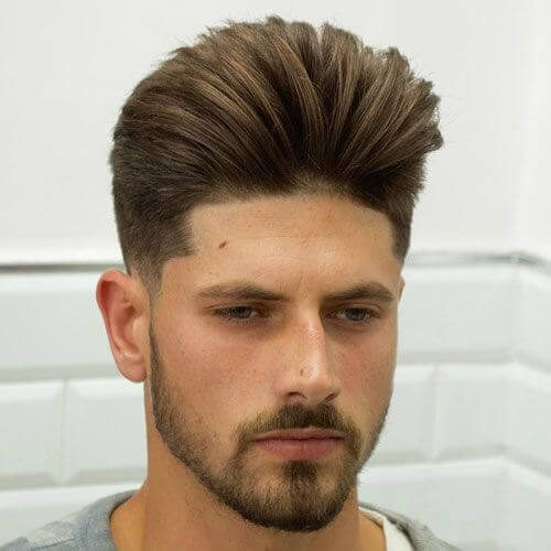 Low Fade with Modern Pompadour - Mens Hairstyles 2020