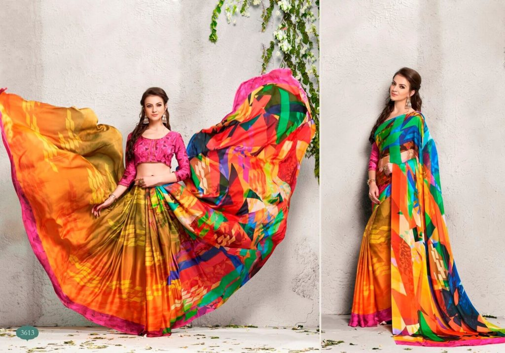 Digital Prints Sarees 2018