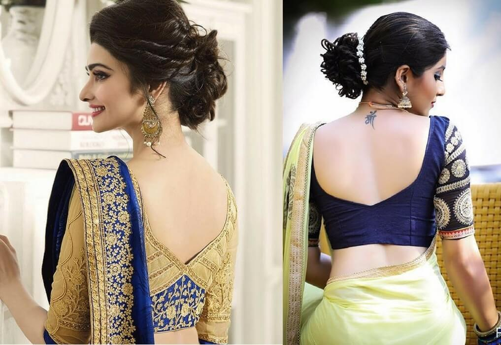 1. V Back Neck - Blouse Designs 2019
