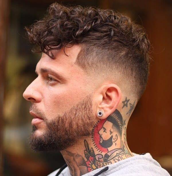 Mid Bald fade Curly Up Top - Mens Hairstyles 2020