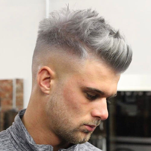 Textured Quiff with High Fade - Mens Hairstyles 2020