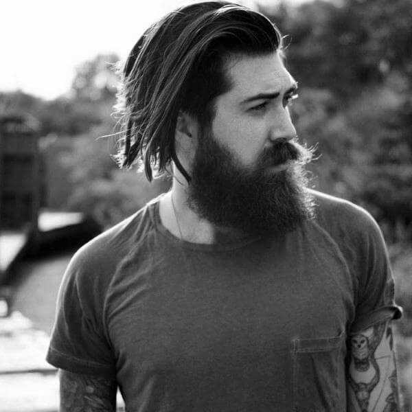 Long Hairstyle For Men with Beard - Mens Hairstyles 2020