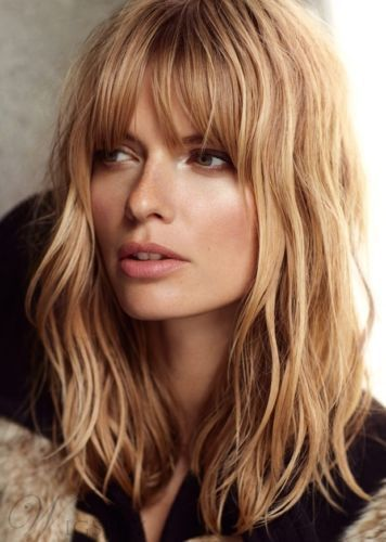 2. Long Textured 70s Inspired Fringe - Womens Hairstyles 2020