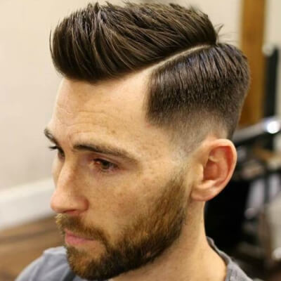 Low Fade Haircut with Side Part - Mens Hairstyles 2020