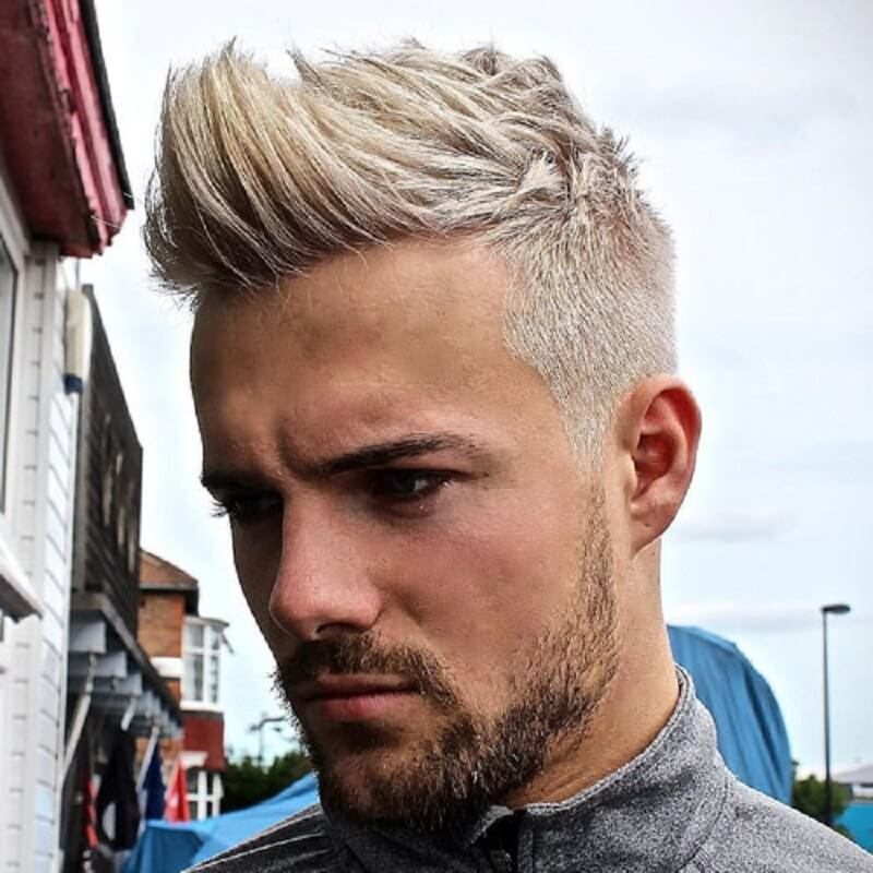 Taper Fade with Textured Quiff - Mens Hairstyles 2020