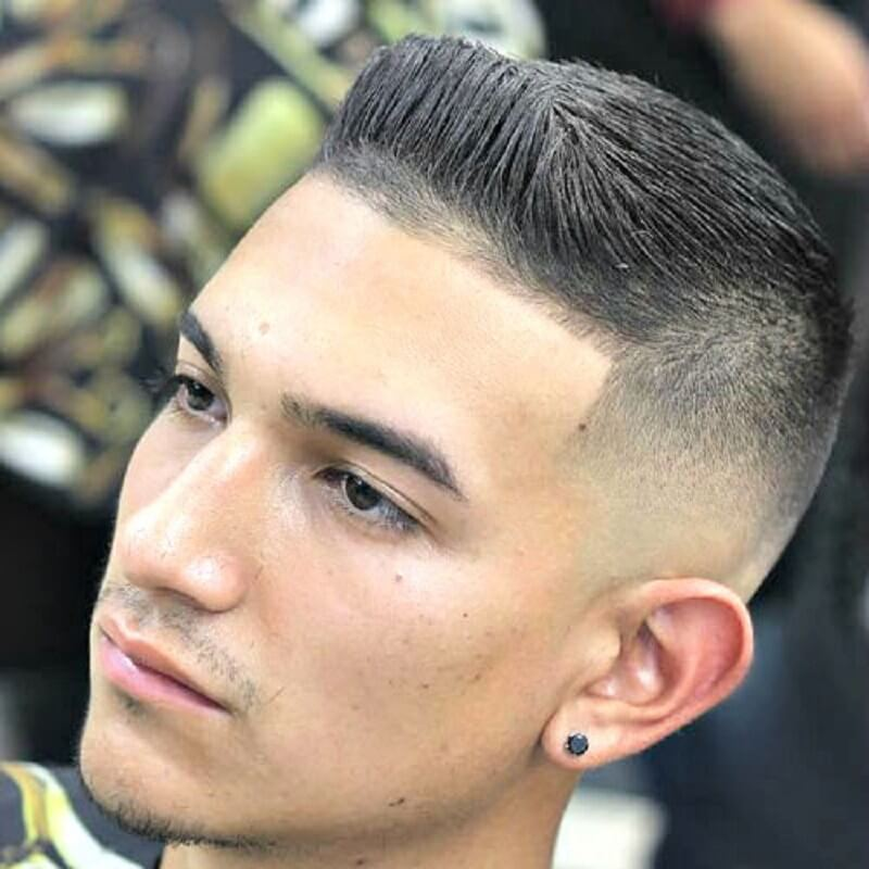 Crew Cut with Spiked Front and Skin Fade - Mens Hairstyles 2020