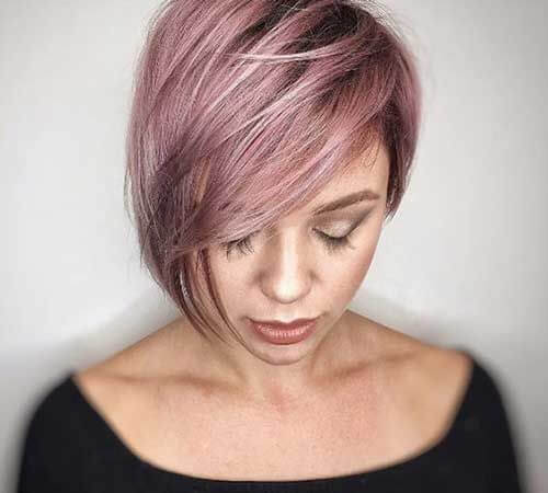 15. Thick Asymmetrical Bob - Short Hairstyles for Women 2020