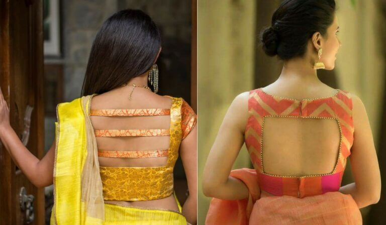 8. Gorgeous Back Open - New Blouse Designs 2019