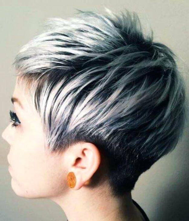 19. SILVER PIXIE HAIR - SHORT HAIRSTYLES FOR WOMEN 2020