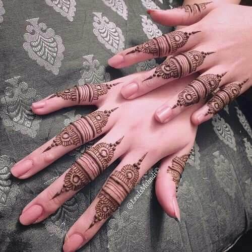 10. Finger Full Arabic Mehndi Design – Arabic Mehndi Designs 2019