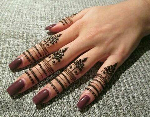 10. Finger Full Arabic Mehndi Design – Latest Arabic Mehndi Designs 2019
