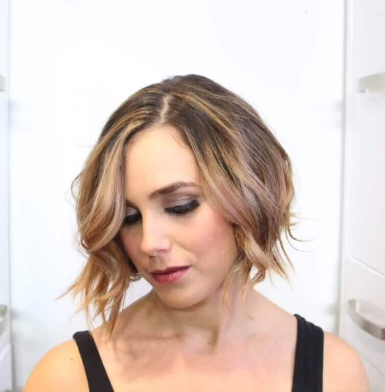 Blonde Wavy Balayage Bob Haircut 2019