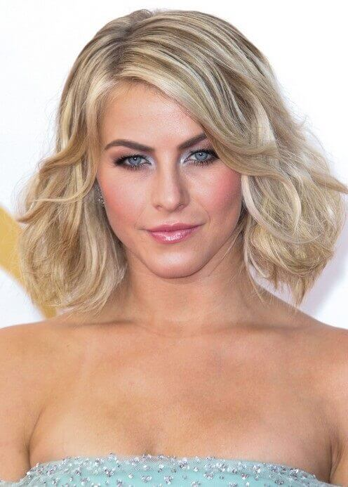 2019 Blonde Curled Bob Haircut